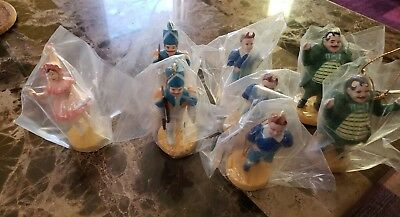 SET OF 8 WIZARD OF OZ PVC CHARACTER ORNAMENT FIGURINES 1988 MGM TURNER in BAGS