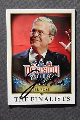 2016 GOP Presidential Candidate Jeb Bush signed/autographed campaign card-COOL!