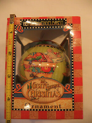 "Mary Engelbreit ""The Night Before Christmas"" Mouse Christmas Ball Ornament"