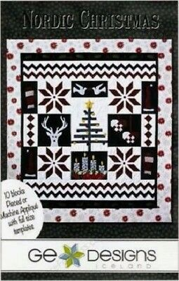 GE Designs Iceland 57 x 64 inch Quilt Pattern: Nordic Christmas