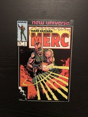 Mark Hazzard Merc #1 Marvel New Universe Nice Condition!