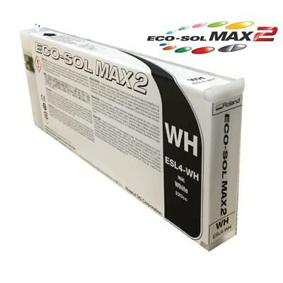 Roland White Ink Cartridge - Eco-Sol Max2 ESL-4 220cc Brand New Sealed