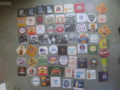 66 different  AUSTRALIAN Issued Brewery, BEER Coasters collectable