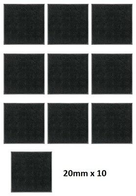 Wargames/ Warhammer 20mm Square Base (10 Pieces) **BRAND NEW**