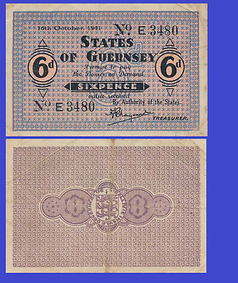 Guernsey 6 pence 1941 UNC - Reproduction