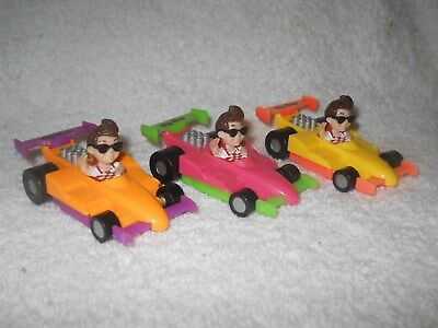 Lot of 3  Big Boy Restaurant 1990 Toy Race Car Formula One