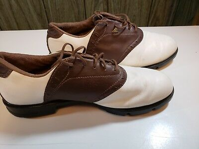 6621f25f76e Adidas Mens Z-Traxion Saddle Brown Woven Golf Shoes Cleats Spikes Sz 10.5