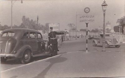 Egypt Alexandria 1920 Postcard Policeman Guiding The Traffic  + No Horn Sign