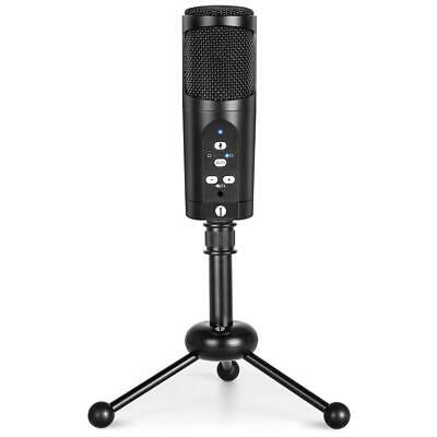 USB Microphone with tripod, Mute Button, LED indicator, audio out volume up/down
