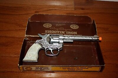 ROY ROGERS KILGORE LONG BARREL CAP GUN IN THE ORIGINAL 1950s BOX!