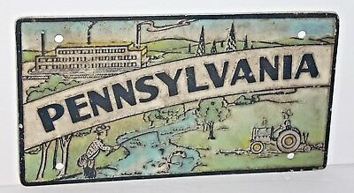 Vintage PA Pennsylvania Metal Novelty License Plate