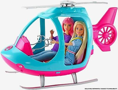 Nib-New-2019 Barbie Doll Pink Helicopter-Fits Two Dolls-Propellers Really Spin!