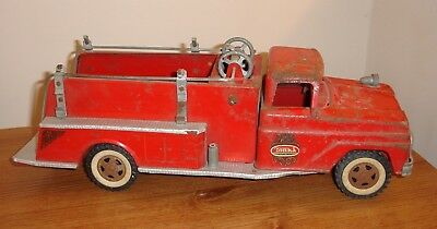 Vintage 1960's Tonka Fire Rescue Truck Pumper - Mound, MN Label