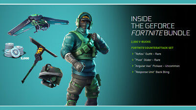 Fortnite Counterattack Set code with 2000 V-bucks NVIDIA GeForce Fast delivery!!