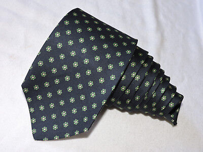 """Brooks Brothers Men's Tie Navy Blue & Green/floral  3.25"""" 55"""" Usa"""