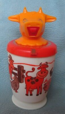 "Vintage 6"" Plastic Cup Cow Creamer Whirley Industries"