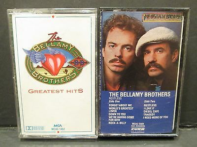 LOT OF 2 THE BELLAMY BROTHERS CASSETTES, Greatest Hits, Restless