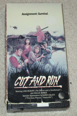CUT AND RUN VHS Insane Ruggero DeoDato Cult Action Video