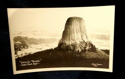 Early,devil's Tower,wyoming,real Photo