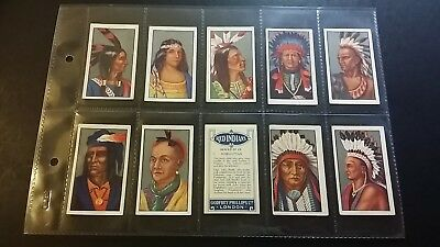 """1927 Phillips """"red Indians""""(Geronimo/sitting Bull/pocahontas) Full 25 Card Set"""