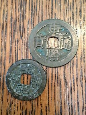 Antique Chinese Coins Tokens From British Columbia BC Ghost Town Mining Camp