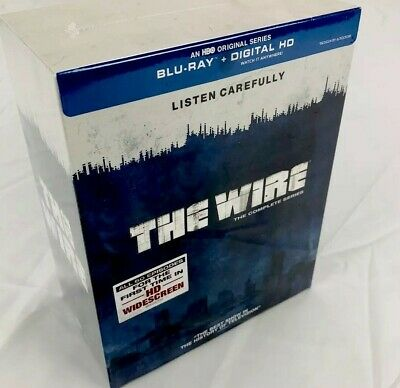 The Wire: Complete Series - Seasons 1-5 (Blu-ray, 20-Disc Set, HBO TV Show)