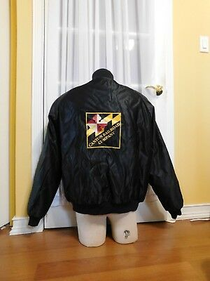Pre-owned Butwin The Canton Railroad Company Black Satin Jacket Size XL