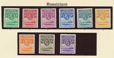 Basutoland Stamps 1933 Kgv Short Set To 5/- Mnh/mvlh Og, Lovely Group Of Vf
