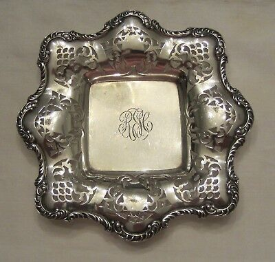 Antique 1894 Gorham Solid Sterling SIlver Bon Bon Candy Nut Tray or Dish