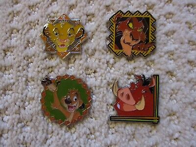 Disney Trading Pin The Lion King Starter Booster Set of 4 Simba Scar Pumba Timon