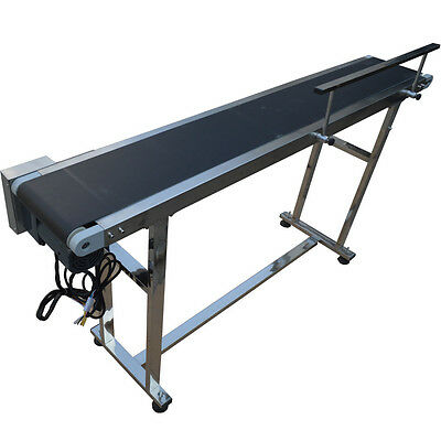 110V 60W Electric Conveyors with single Guardrail PVC Belt