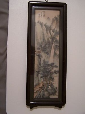 Vintage Chinese Painting Ink on Silk Signed by Artist Antique Rare Asia Asian