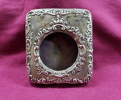 Antique Silver Front Pocket Watch Desk Stand 1904 Hallmarked Birmingham