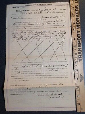 712 Indenture Land Deed Oklahoma Territory 1902 Perry O.T.