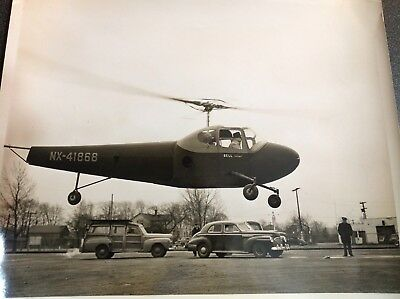 686 Original Photo Bell Aircraft Military Vintage Official Helicopter