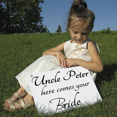 CUSTOMIZED HERE COMES THE BRIDE SIGN,flower girl great for photos props wedding