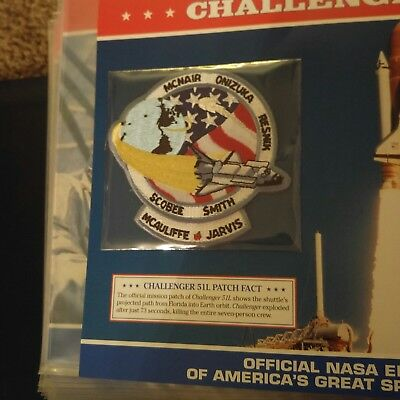 Official NASA Space Mission Patch CHALLENGER 51L