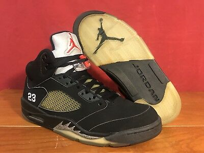 competitive price bf02a 1cf11 06 Nike Air Jordan V 5 Retro OG BLACK SILVER WOLF GREY FIRE RED 136027-