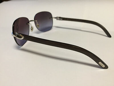 Cartier C Decor Sunglasses 100 Genuine Drk Brown Bubinga Wood