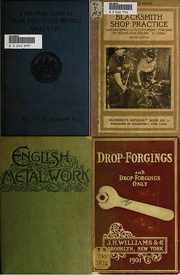 110 Old Books On Blacksmithing, Horseshoe, Metallurgy, Forge & More On Dvd