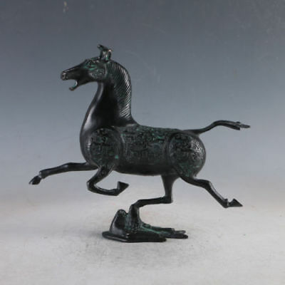 Old Chinese Exquisite Bronze Horse Statues