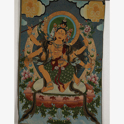 Tibet Collectable Silk Hand Painted Buddhism Portrait  Thangka RK009.a