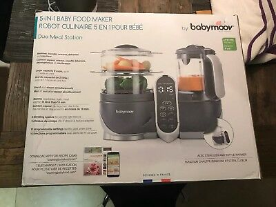 Babymoov Duo Meal Station | 5 in 1 Food Processor with Steam Cooker, Multi-Speed