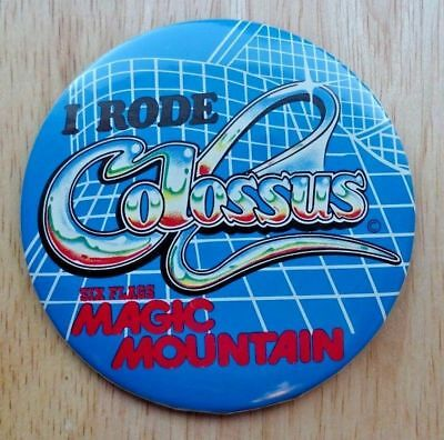 Six Flags Magic Mountain Colossus Wooden Roller Coaster Button