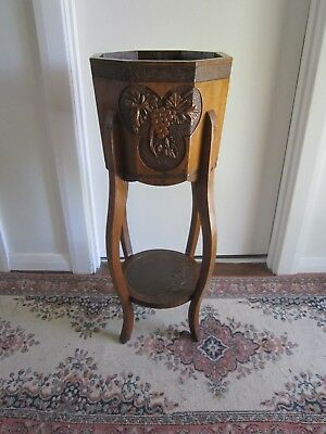 Vintage Antique Art Deco Collectable Handmade Timber Planter  Stand