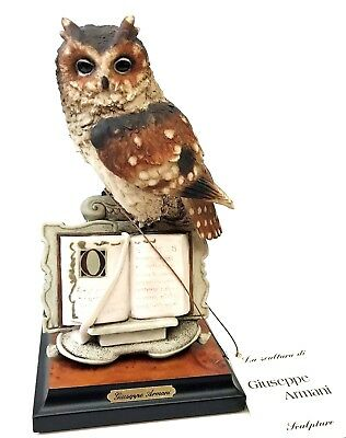 Beautiful Florence G. Armani Wise Owl Figurine ~ #207S  ~ Mint Condition