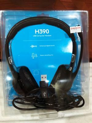 NEW Logitech USB Headset H390 w/Noise Cancelling Mic--FREE SHIPPING!