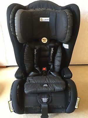 Infasecure Harnessed Car Seat 6mths to 8 Years - Black Including Accessories
