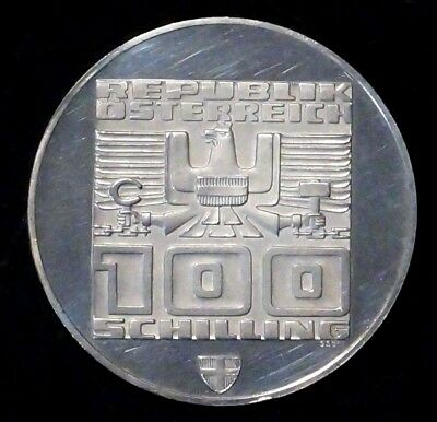 Silver PROOF 100 Schilling 1976 AUSTRIA / OSTERREICH XII.Winter Olympics (816)