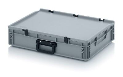 Transport Containers 60x40x13,5 with Carrying Handle and Lid Case Box